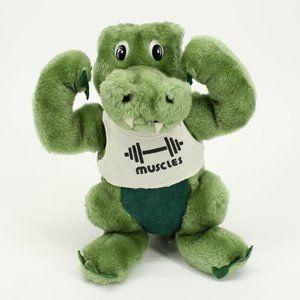 Vintage Dakin Muscles Alligator Croc Stuffed Doll